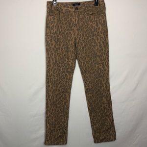 Chaps Cheetah Print Straight leg Jeans Size 6